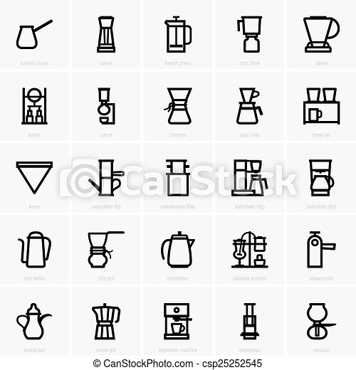 Coffee maker icons - csp25252545