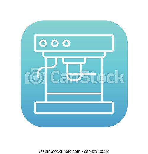 Coffee maker line icon. - csp32938532