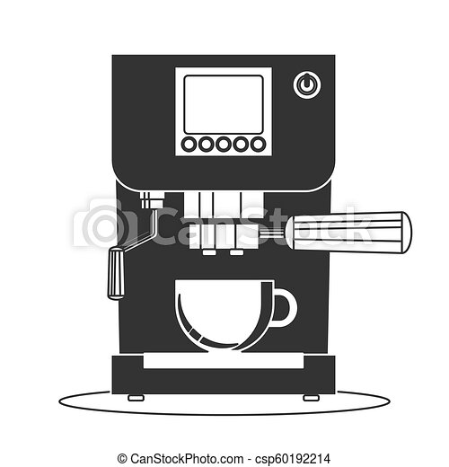 Coffee Maker Machine Icon Flat Simple Vector Symbol Coffee Maker