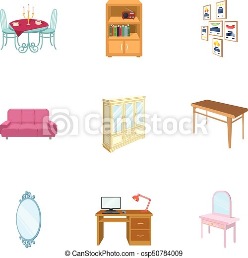 isometric office furniture vector collection. Coffee Maker, Sofa, Mirror, Table Service In The Restaurant And Other Web Icon Cartoon Style Vector Isometric Office Furniture Collection S
