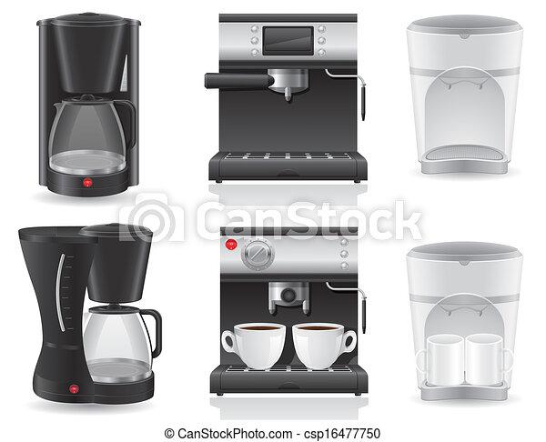 coffee maker vector illustration - csp16477750