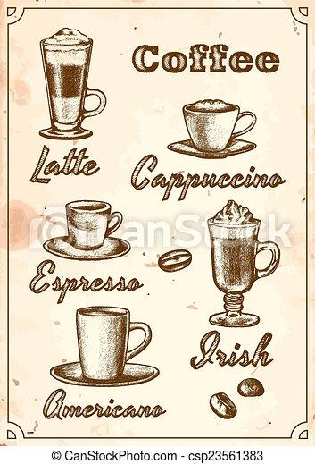 Coffee Menu - csp23561383