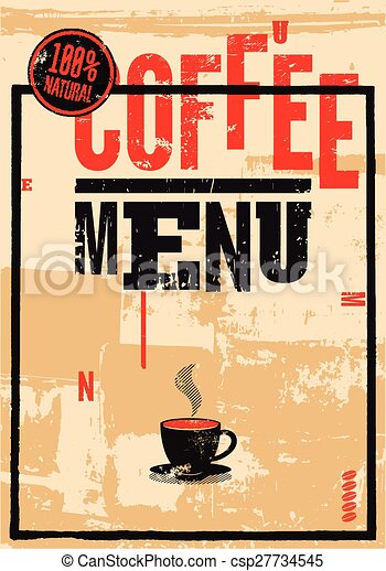 Coffee menu. - csp27734545