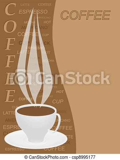 Coffee menu template vector illustration coffee menu template csp8995177 maxwellsz