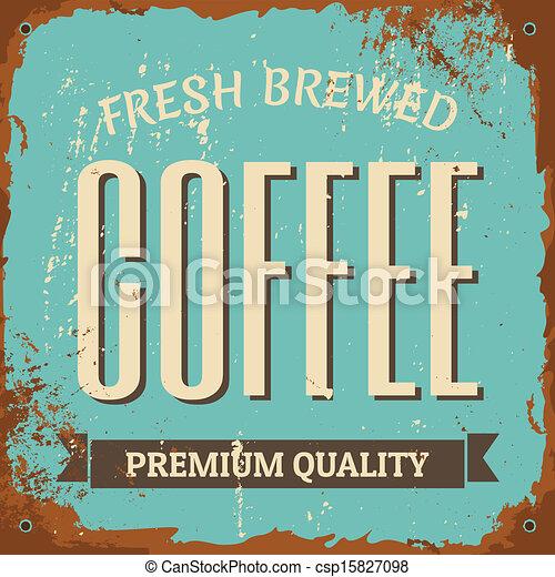 Coffee Metal Sign - csp15827098