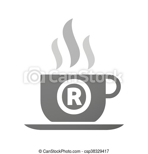 Coffee Mug Icon With The Registered Trademark Symbol Illustration