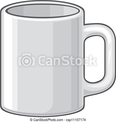 coffee mug (white cup) - csp11107174