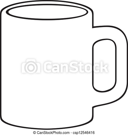 coffee mug (white cup) - csp12546416