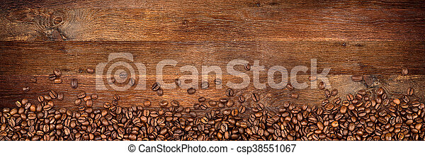 coffee old oak background - csp38551067