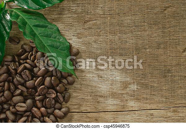 coffee on the wood - csp45946875