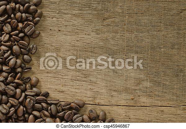 coffee on the wood - csp45946867