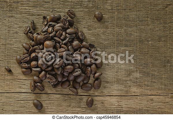 coffee on the wood - csp45946854