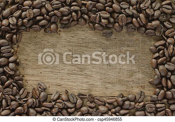 coffee on the wood - csp45946855