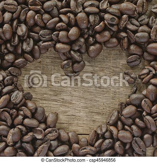 coffee on the wood - csp45946856