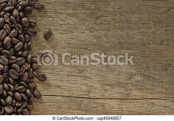 coffee on the wood - csp45946857