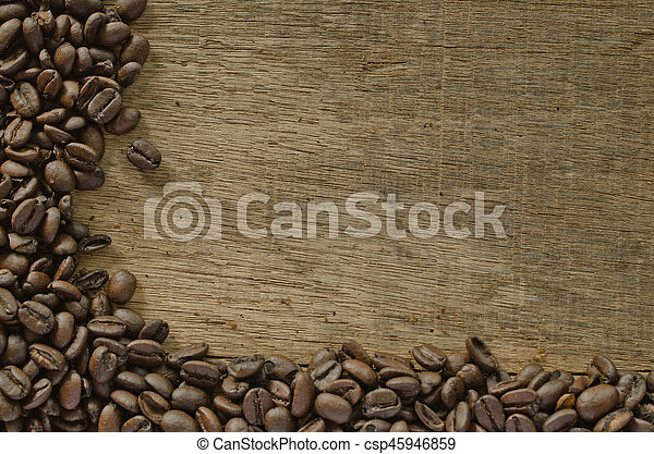 coffee on the wood - csp45946859