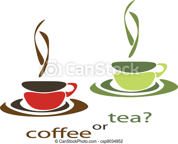 coffee or tea two nice simple cups for tea and coffee free coffee pot clip art Coffee Pot Cartoon