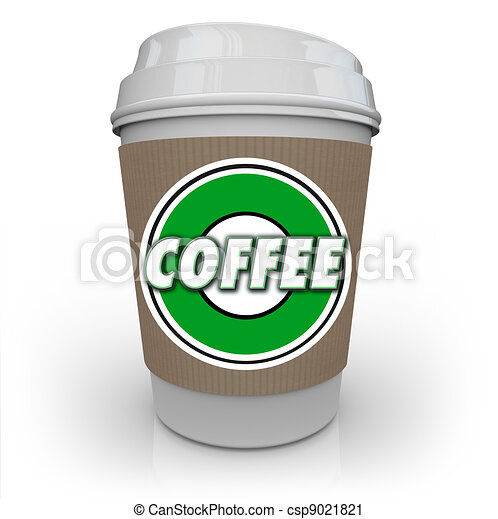 Coffee Plastic Cup Morning Java Drink Caffeine - csp9021821