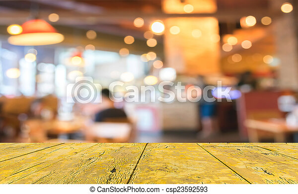 Coffee shop blur background with bokeh image. - csp23592593