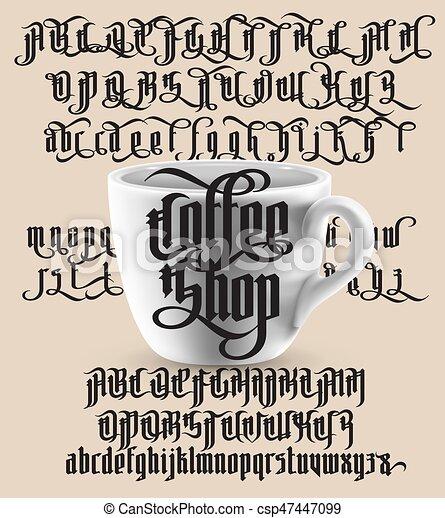 Coffee Shop Gothic Font
