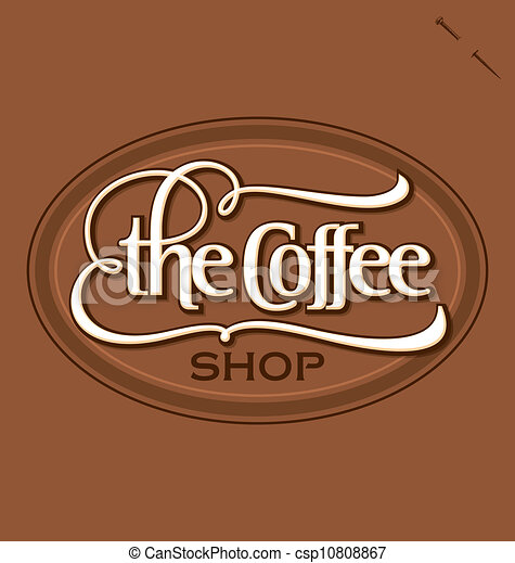Coffee shop hand lettering (vector) 'the coffee shop' hand ...