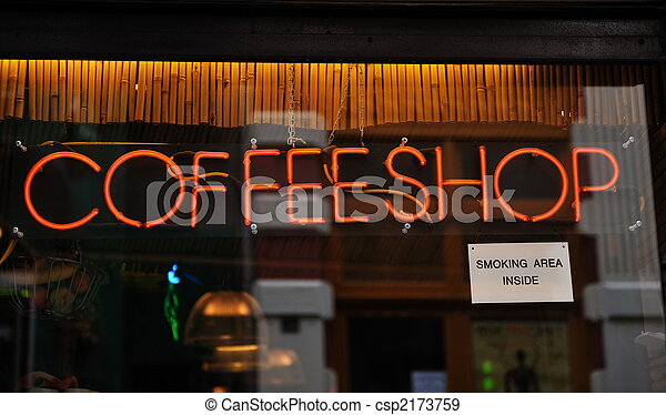 Coffee shop in Amsterdam The Netherlands - csp2173759