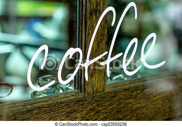 coffee shop - csp23593236