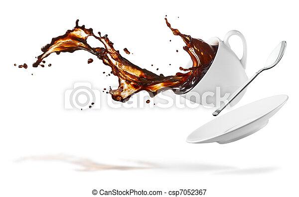 coffee splash - csp7052367