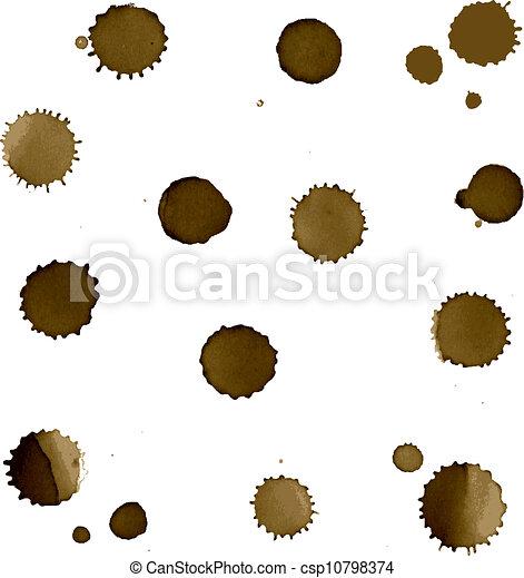 Coffee Stain Set - csp10798374