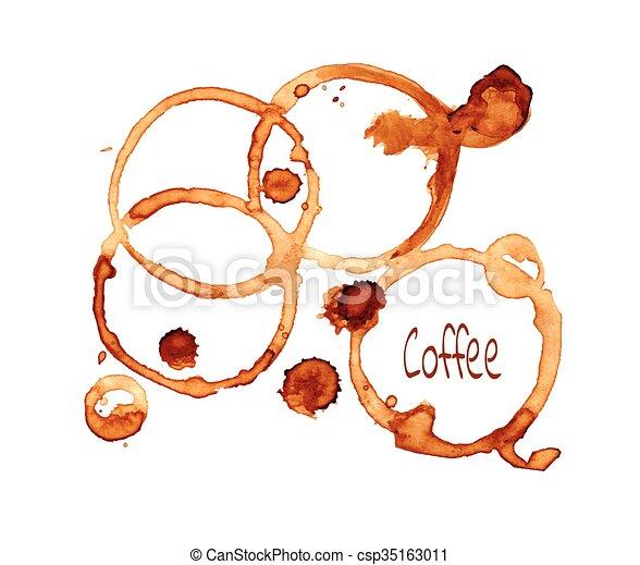 Coffee stain set - csp35163011