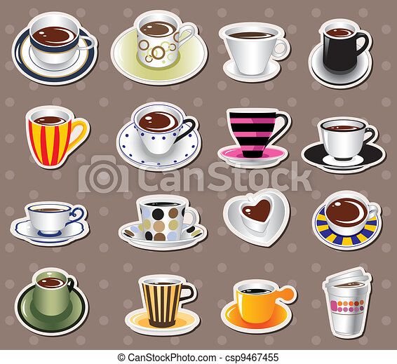 coffee stickers - csp9467455
