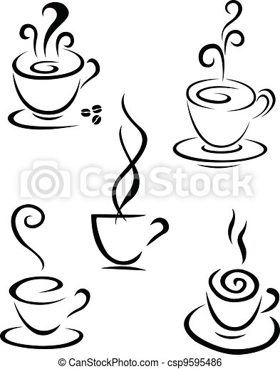 Coffee symbol collection  - csp9595486