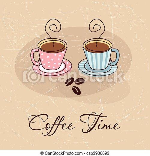 Coffee time card - csp3936693