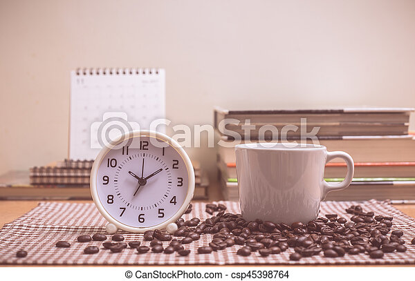 Coffee time with vintage color effected - csp45398764