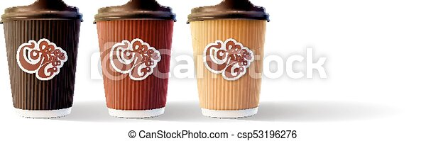 Coffee To Go Cups Isolated Vector Eps10