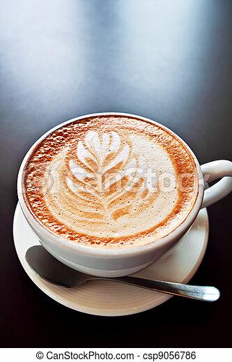 Coffee with foam art - csp9056786