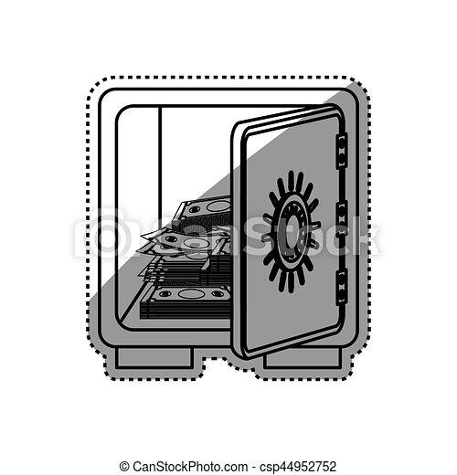 coffre-fort, sécurité, argent - csp44952752