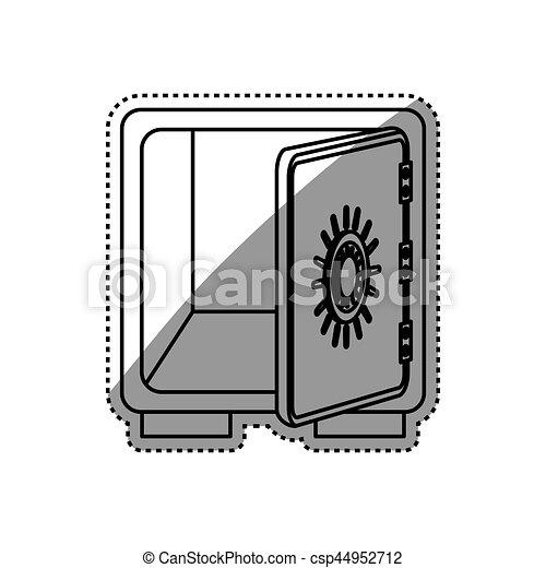 coffre-fort, sécurité, argent - csp44952712