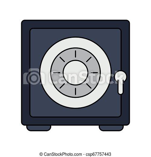 coffre-fort, sécurité, symbole, argent - csp67757443