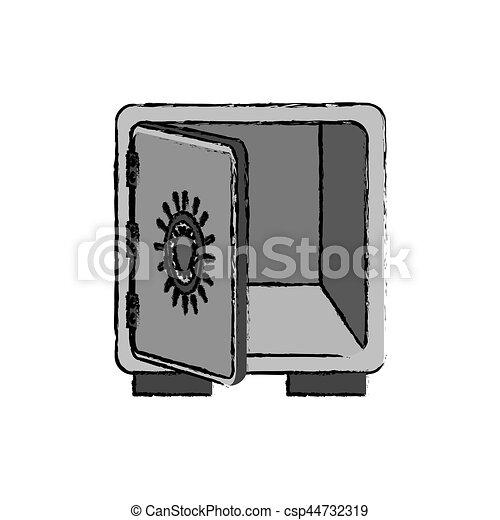 coffre-fort, sûr, argent - csp44732319