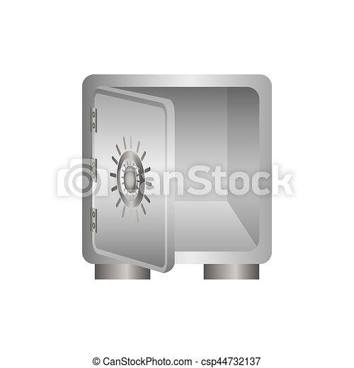 coffre-fort, sûr, argent - csp44732137
