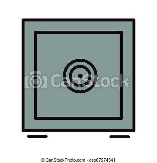 coffre-fort, symbole, argent - csp67974541