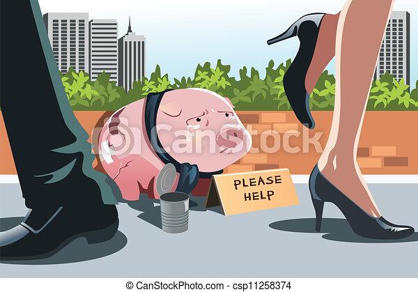 cofre, panhandling - csp11258374