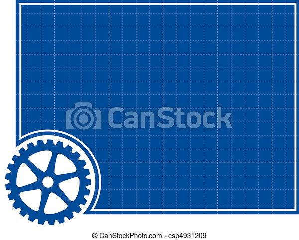 Cog and Blueprint Background - csp4931209