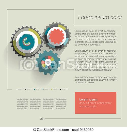Cog wheel circle flat diagram cog wheel circle flat diagram cog wheel circle flat diagram vector ccuart Images