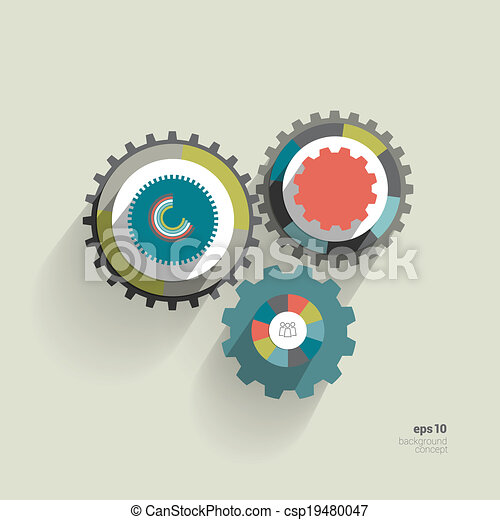 Cog wheel circle flat diagram for info graphic trend color eps cog wheel circle flat diagram vector ccuart Images