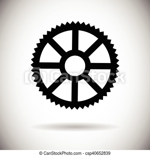 Cog Wheel Mechanical Detail Part Icon - csp40652839