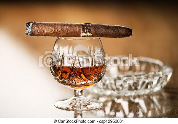 Cognac and cigar - csp12952681