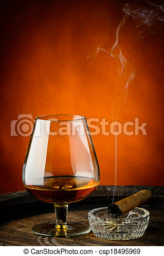 Cognac and cigar - csp18495969