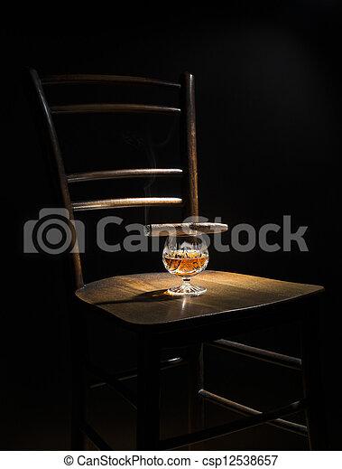 Cognac and cigar - csp12538657